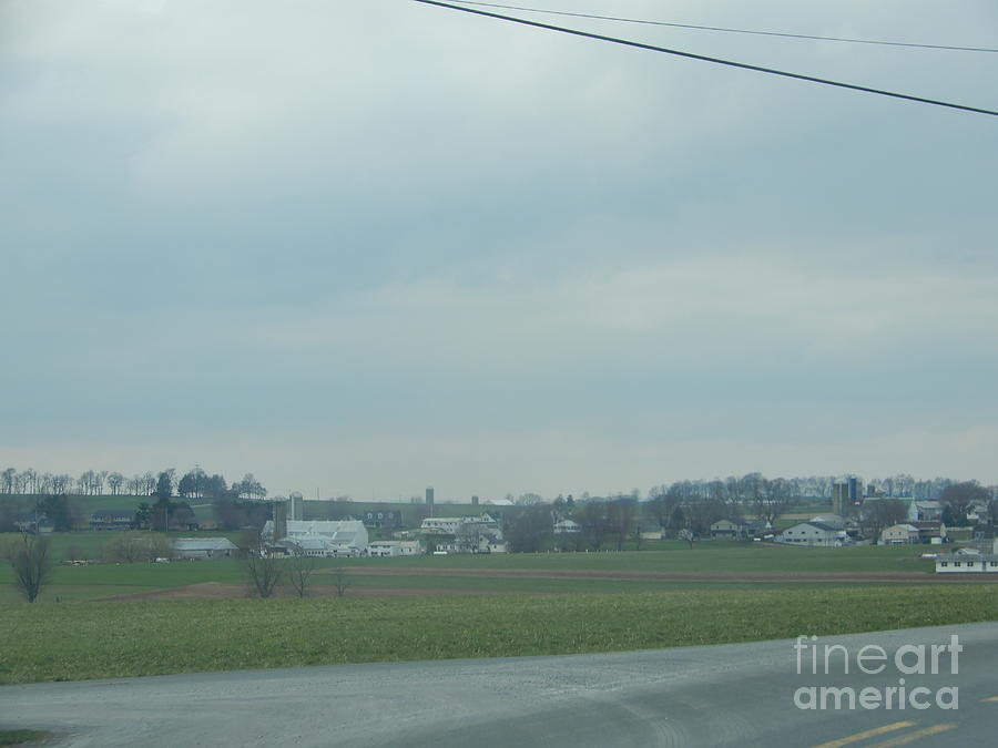 Amish Photograph - Gazing At A Scenic Amish Vista by Christine Clark