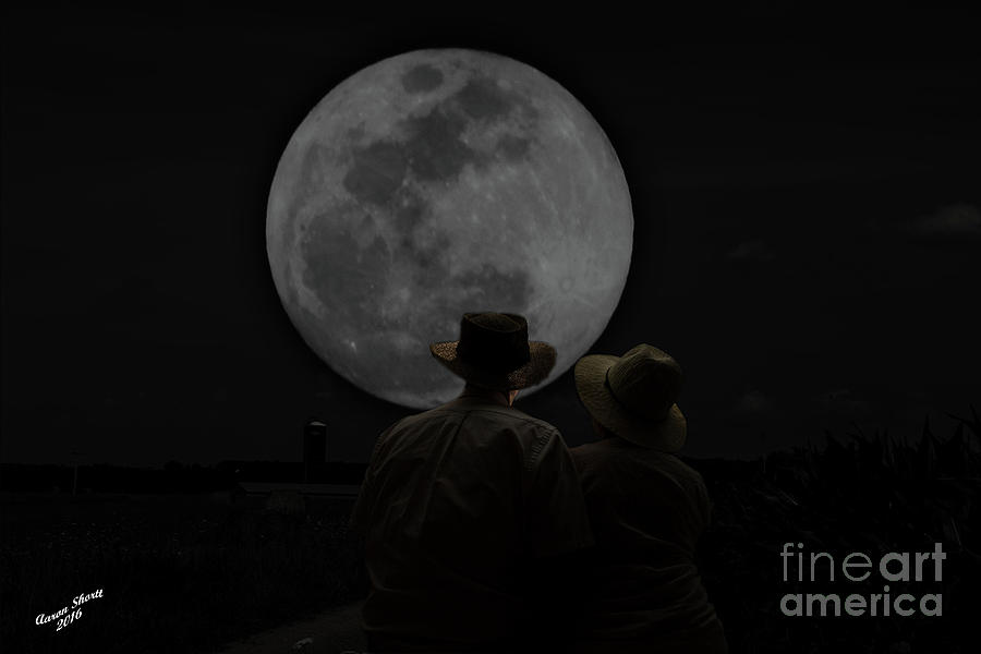 Gazing At The Moon Photograph