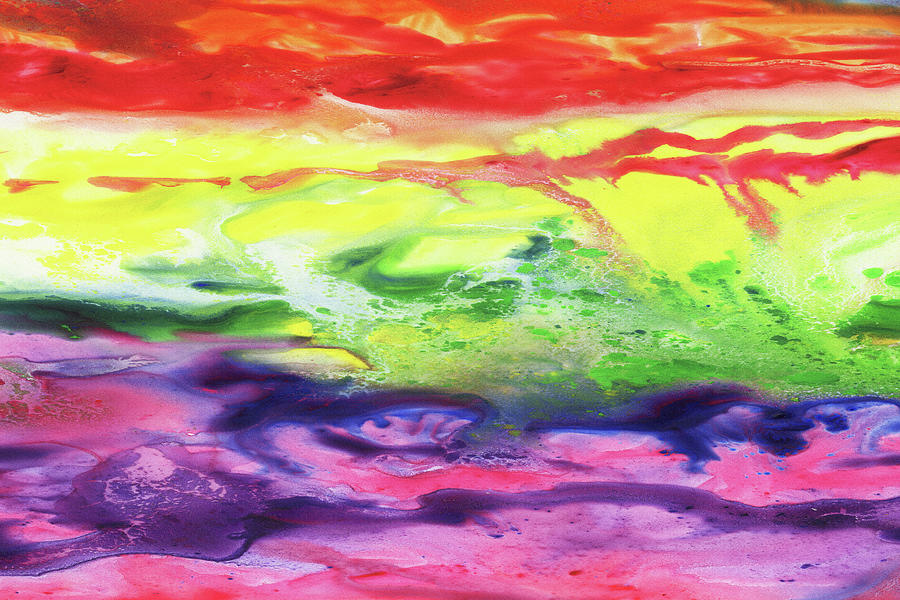 Gazing At The Rainbow Abstract Ix Painting