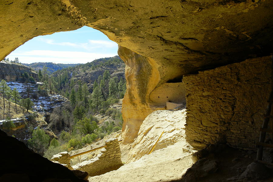 Gazing Out From Within The Gila Ruins Photograph