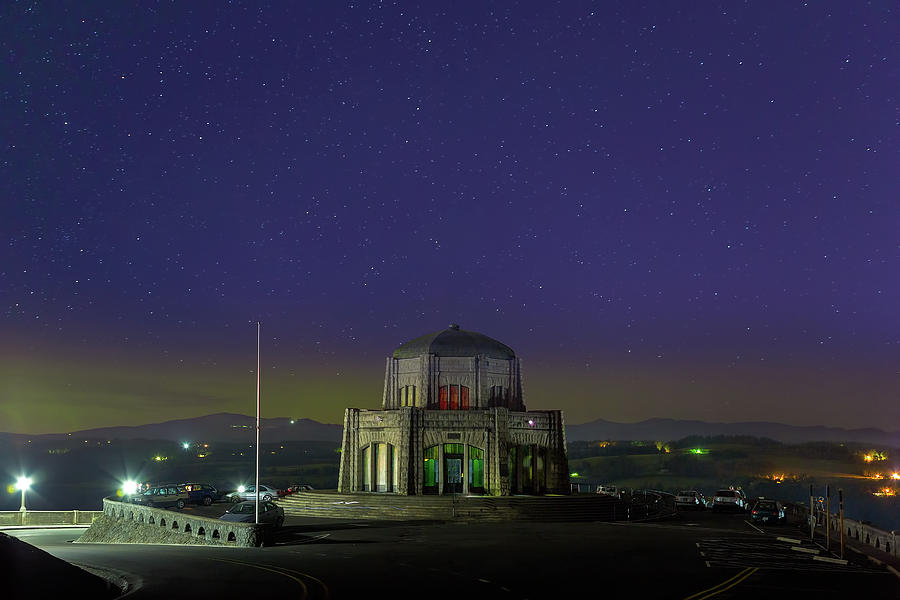 Crown Point Photograph - Gazing Stars At Vista House On Crown Point by David Gn