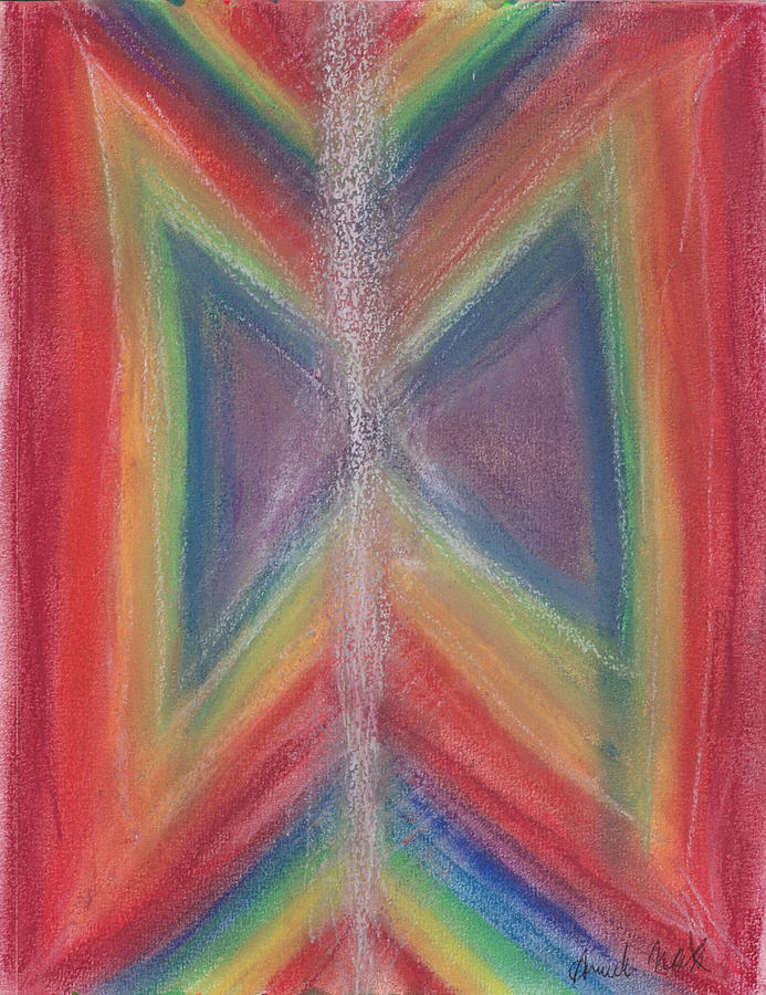 Wings Of Light Pastel By Amanda Wolf