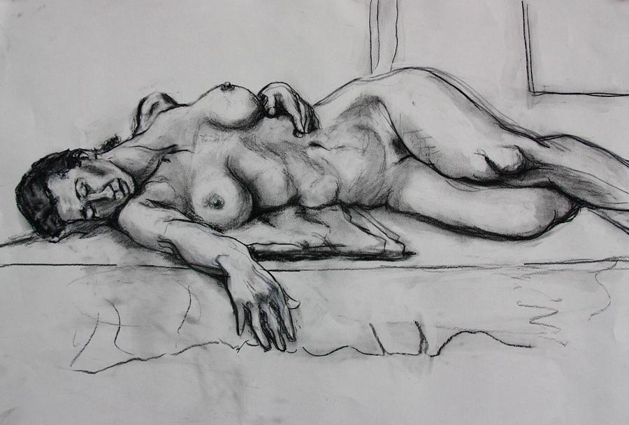 Female Nude Painting - Ge by Dan Earle