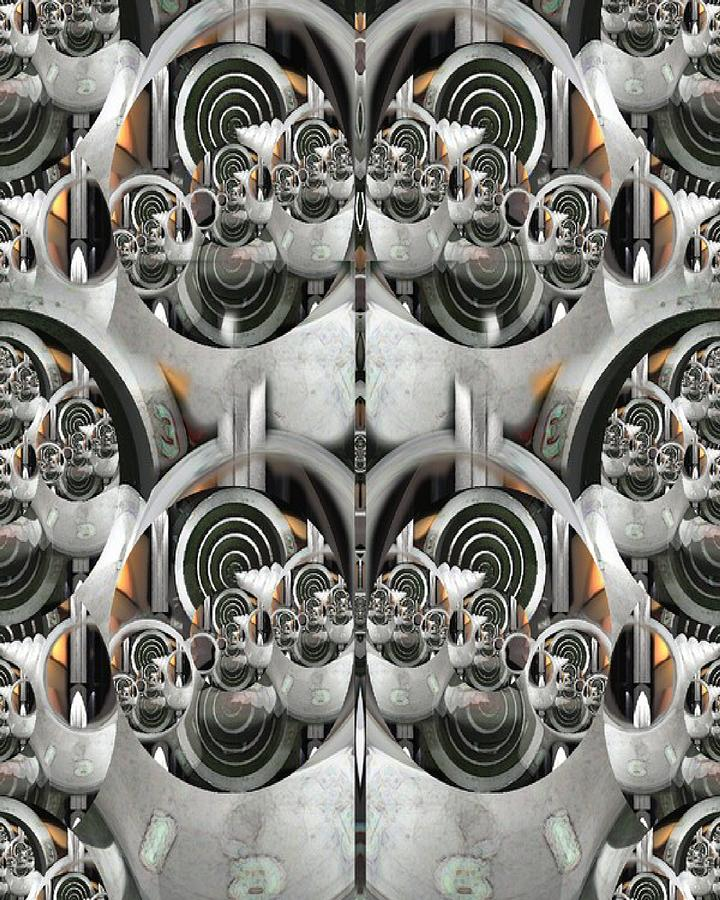 Gearlock Mixed Media by Ian Richard  Laws