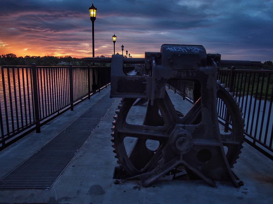 Lake Overholser Photograph - Gears At Daybreak  by Buck Buchanan