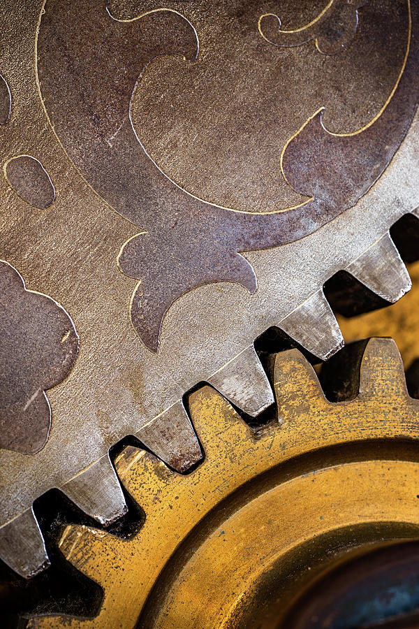 Chain Photograph - Gears by Jae Mishra