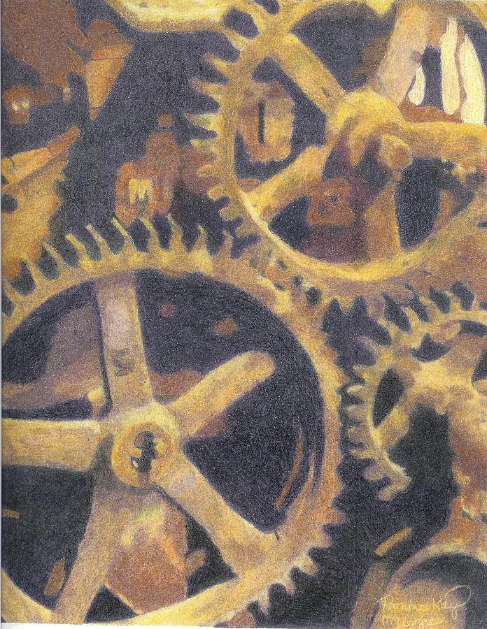 Gears Painting - Gears by Ronine McIntyre