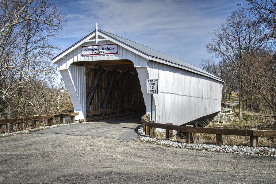 Geeting Covered Bridge Photograph