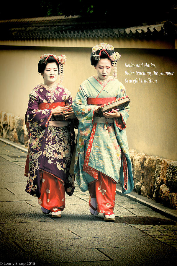 Geiko Photograph - Geiko Haiku by Leonard Sharp