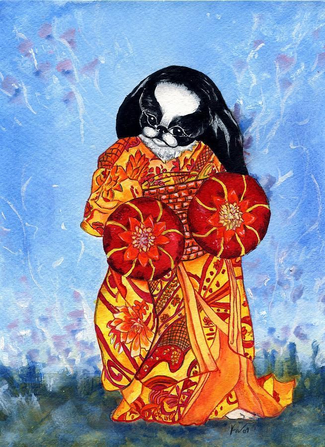 Japanese Chin Painting - Geisha Chin by Kathleen Sepulveda