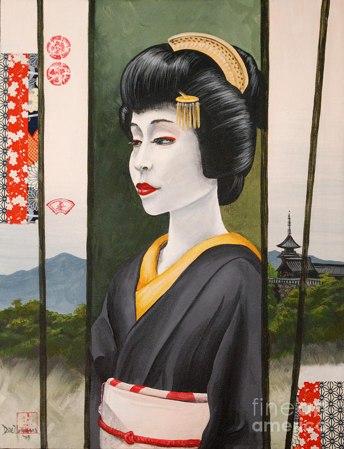 Geisha Painting - Geisha by Dee Youmans-Miller