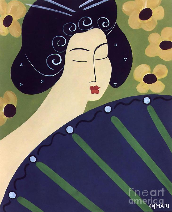 Geisha Doll Painting by Jacquelinemari