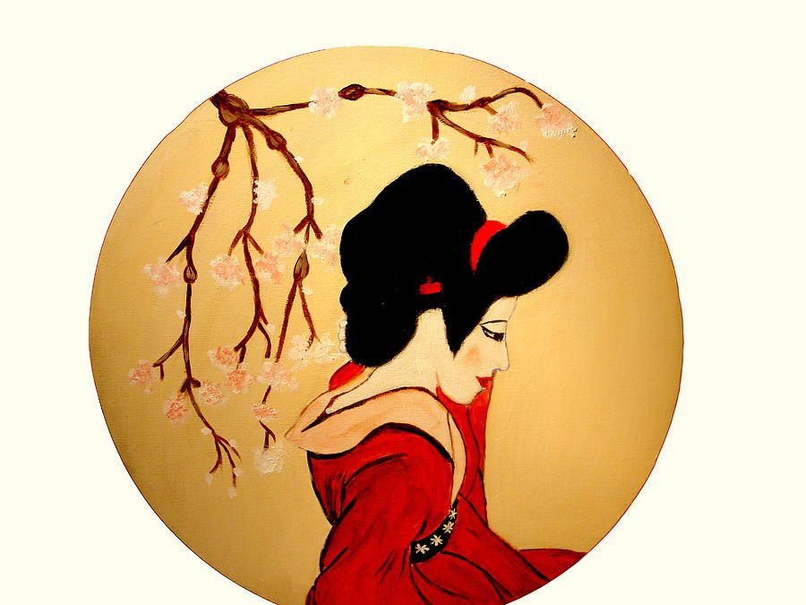 Geisha Girls Painting - Geisha Girl by Rusty Gladdish