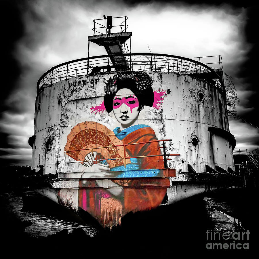 Geisha Graffiti Photograph By Adrian Evans