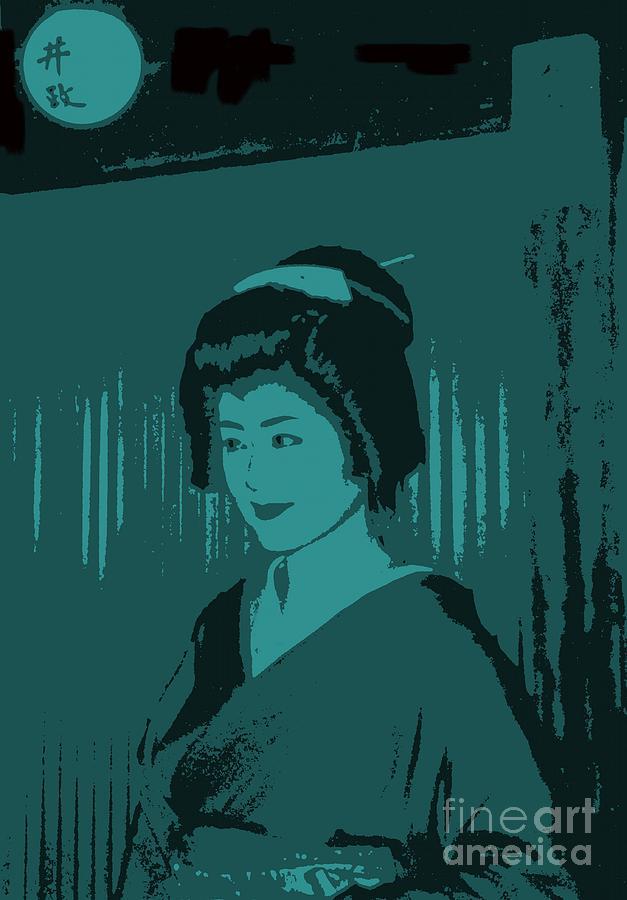 Geisha Photograph - Geisha In Blue by Louise Fahy