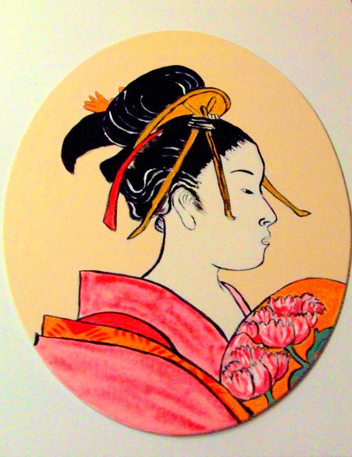 Geisha Girls Painting - Geisha in the house of pleasure by Rusty Gladdish
