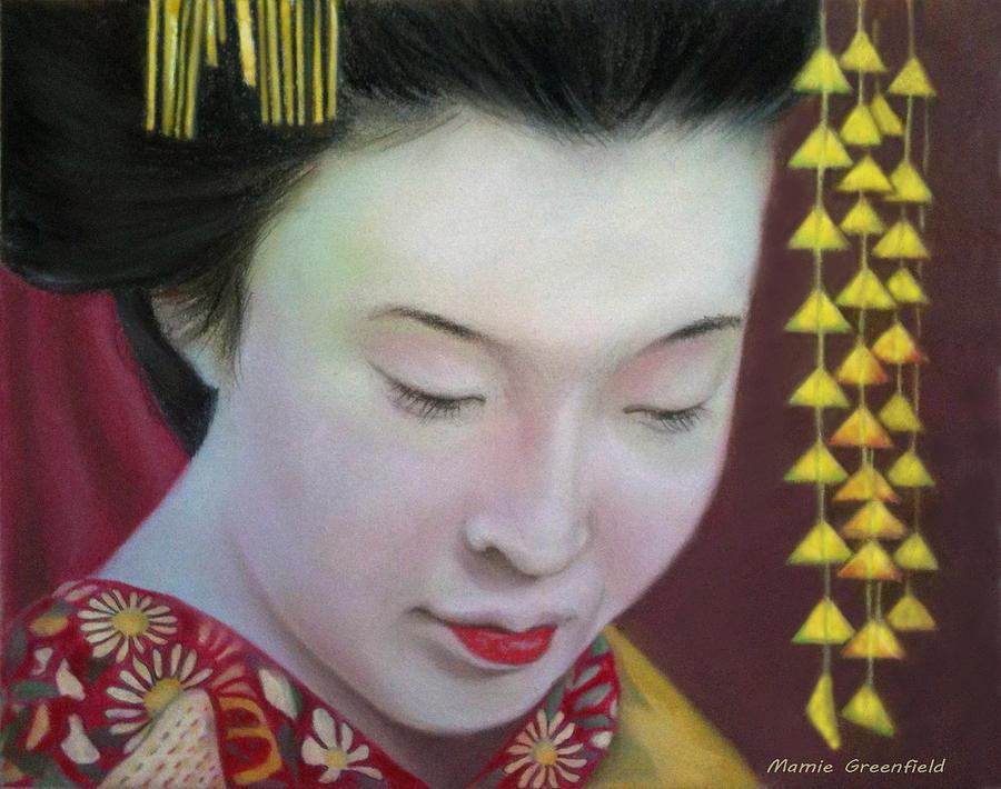 Portraits Drawing - Geisha by Mamie Greenfield