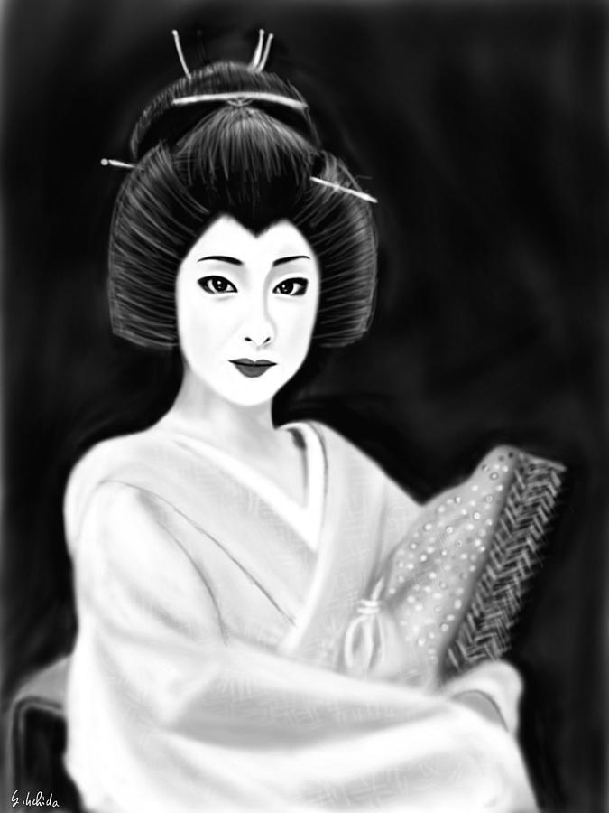 Ipad Painting - Geisha No.154 revised by Yoshiyuki Uchida