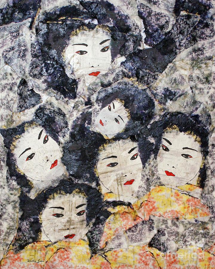 Geisha Mixed Media - Geisha by Shelley Jones