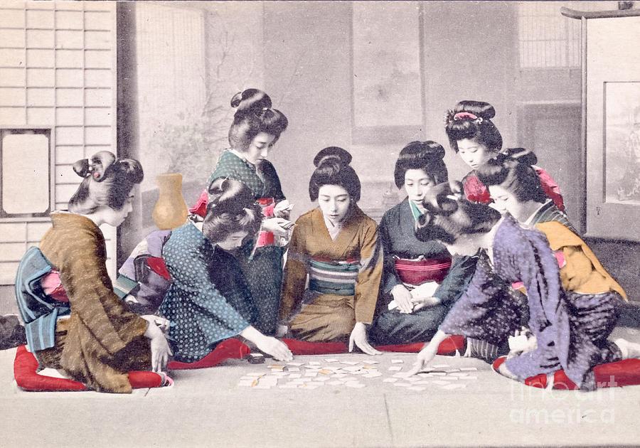 Geisha Photograph - Geishas by Delphimages Photo Creations