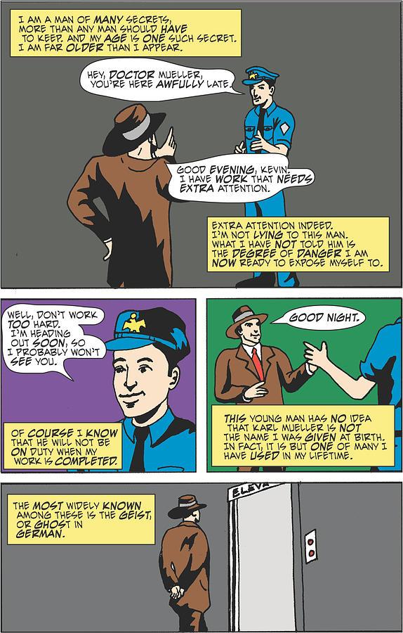 Comic Book Digital Art - Geist Page One by Kip  Lake