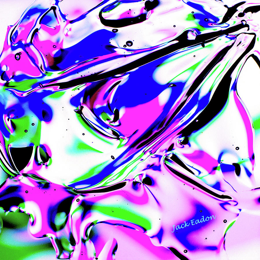 Purple Photograph - Gel Art#18 by Jack Eadon