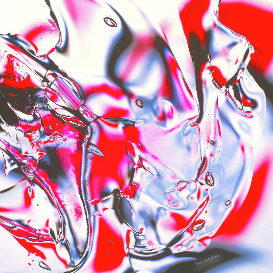 Red Photograph - Gel Art #21 by Jack Eadon