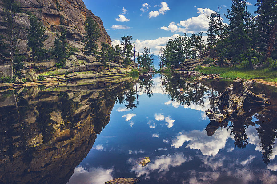 Beauty In Nature Photograph - Gem Lake Reflections by Andy Konieczny