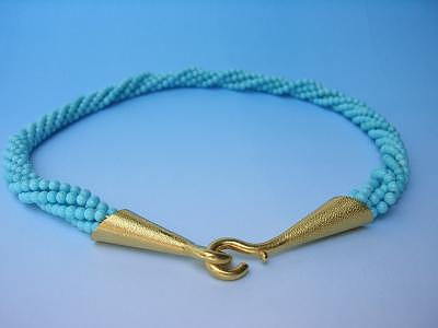 Gem Turquoise Torsade Jewelry by Mia Katrin