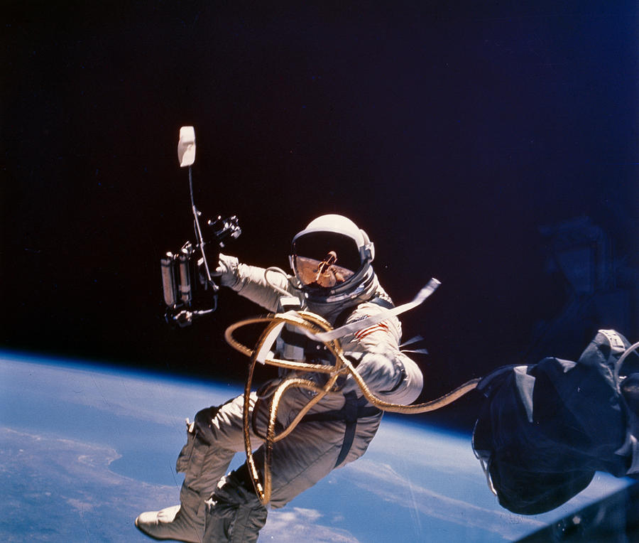 Day Photograph - Gemini 4 Astronaut Edward H. White by Nasa