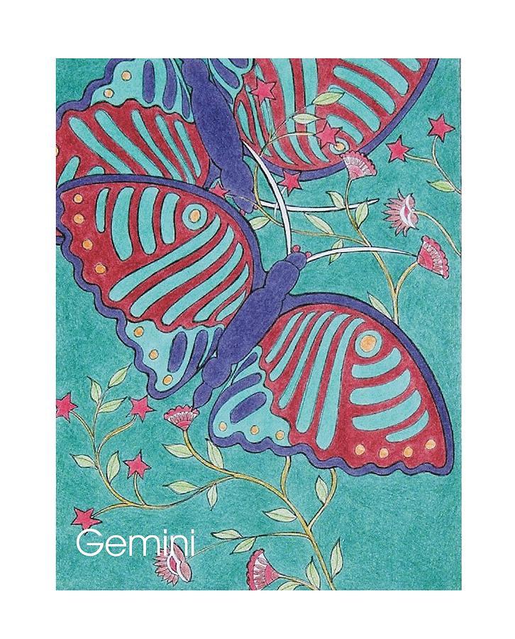 Gemini The Twins Mixed Media - Gemini The Twins by Stephen Daniel