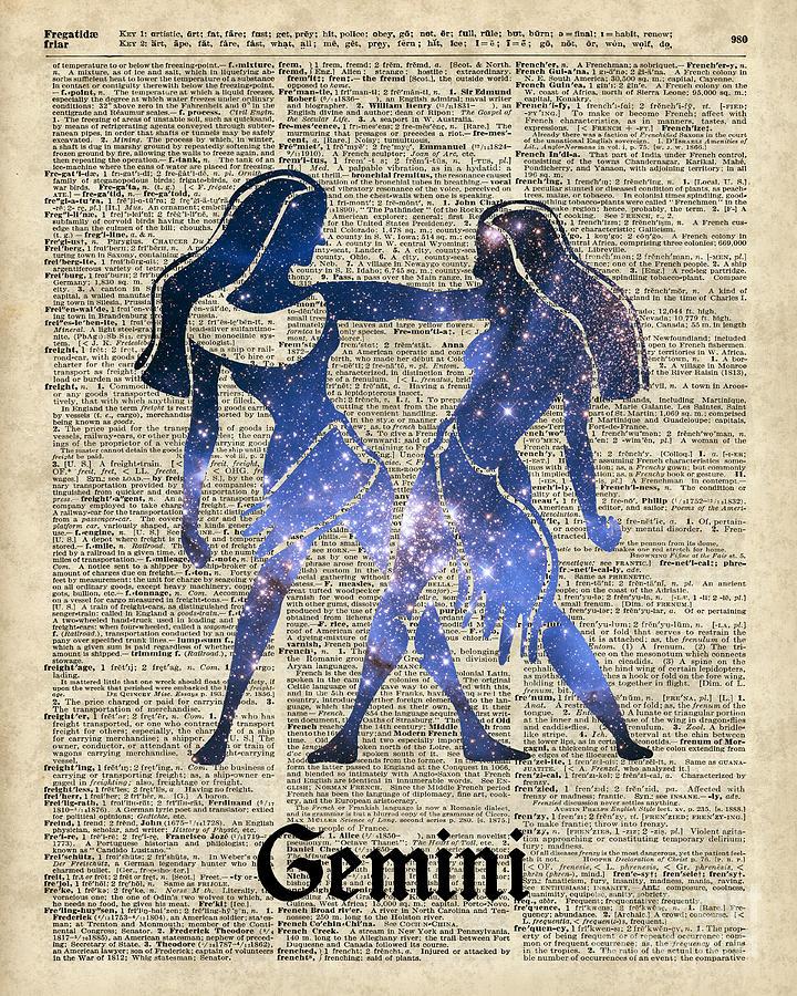 gemini twins horoscope zodiac sign digital art by fundacja