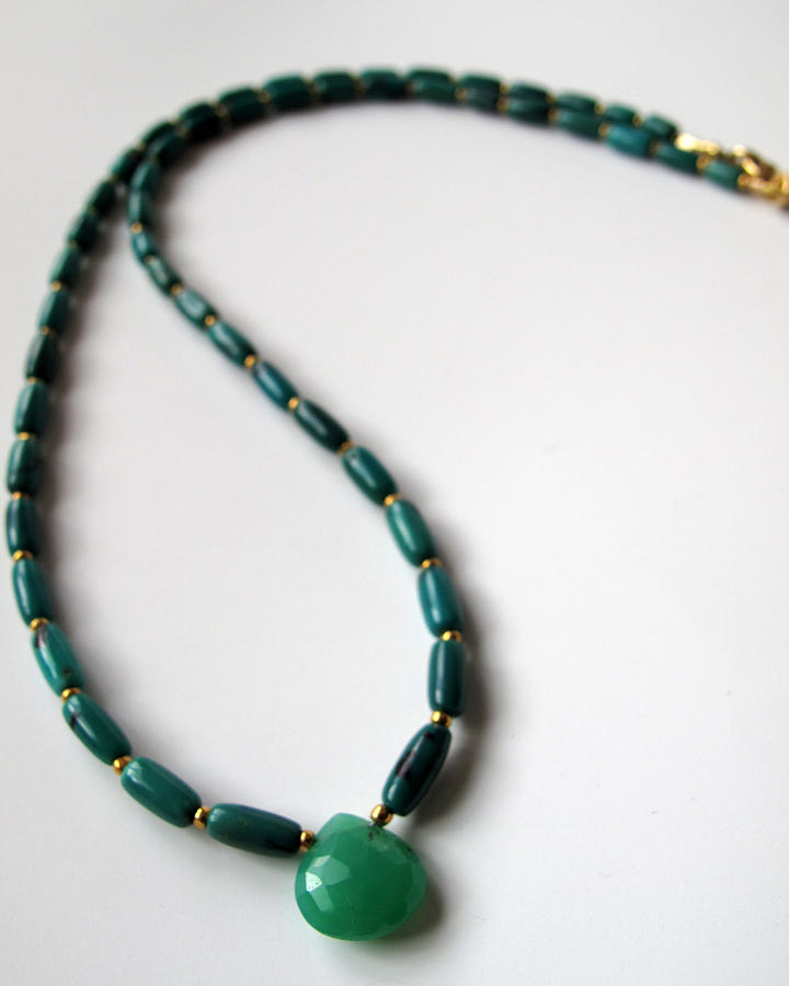 Gemstone Jewelry - Gemmy Chrysoprase And Turquoise by Adove  Fine Jewelry