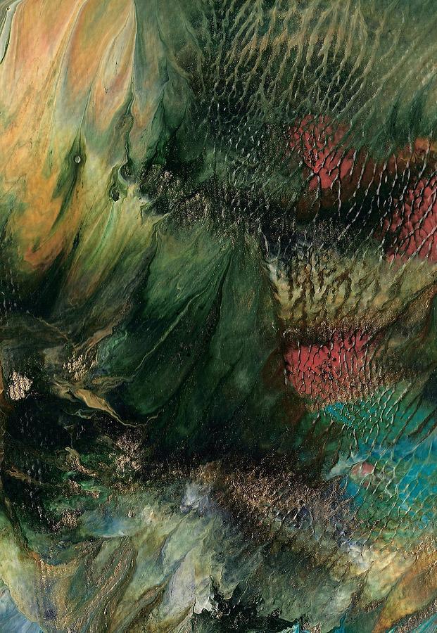 Ocean Landscape Painting - Gems Of The Sea by Linda Stevenson