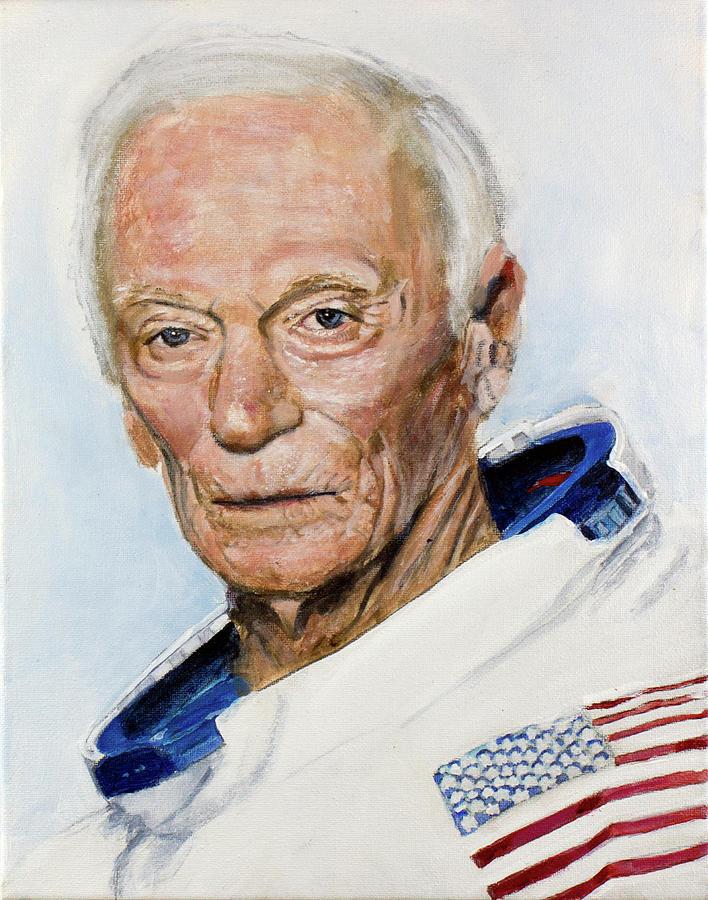 Gene Cernan Painting by Simon Kregar