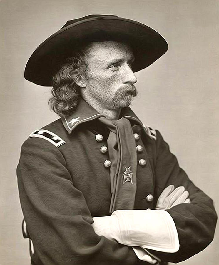 General Custer Photograph - General Custer by Bill Cannon