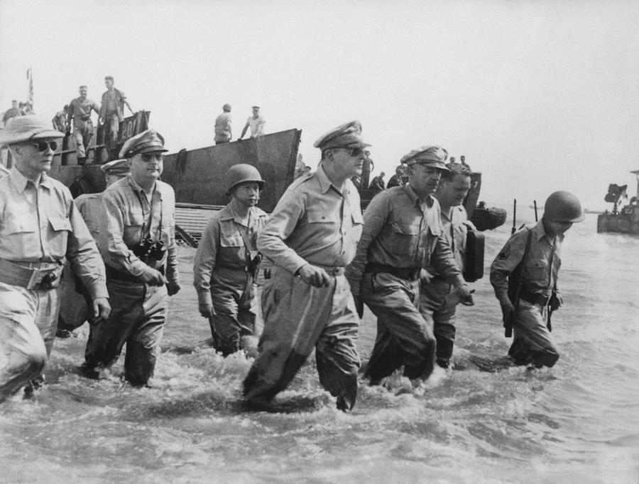 Douglas Macarthur Photograph - General Douglas Macarthur Returns by War Is Hell Store