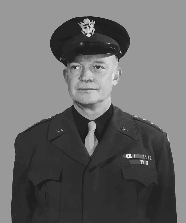 Eisenhower Painting - General Dwight D. Eisenhower by War Is Hell Store