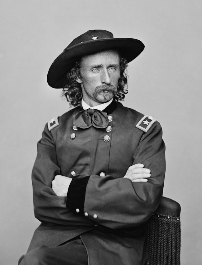 George Armstrong Custer Photograph - General George Armstrong Custer by War Is Hell Store