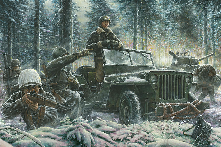 General George Patton Painting