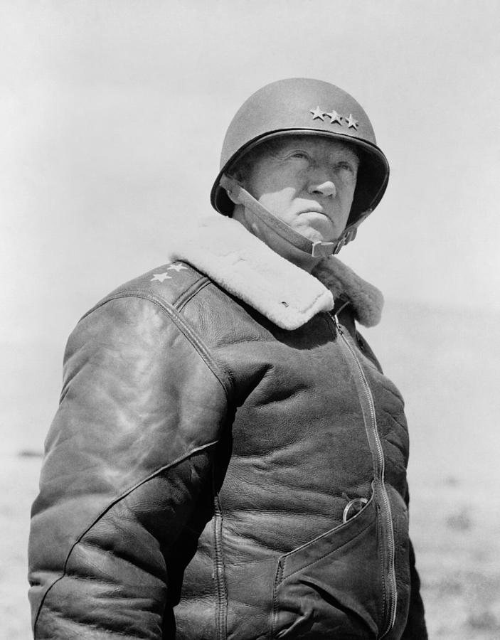 General Patton Photograph - General George S. Patton by War Is Hell Store