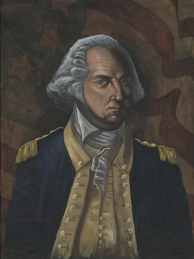 America Painting - General George Washington by Jeff Brimley