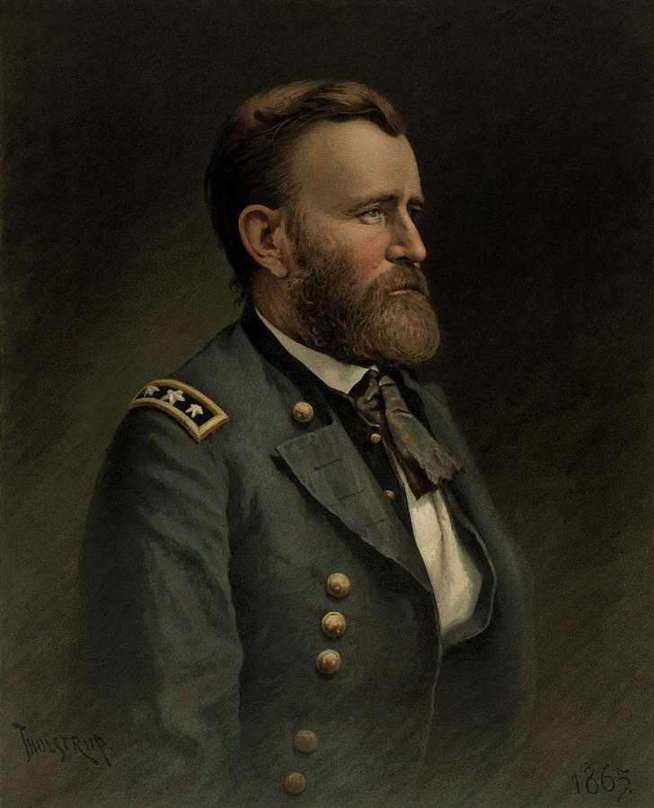 Ulysses Grant Painting - General Grant - American Civil War by War Is Hell Store