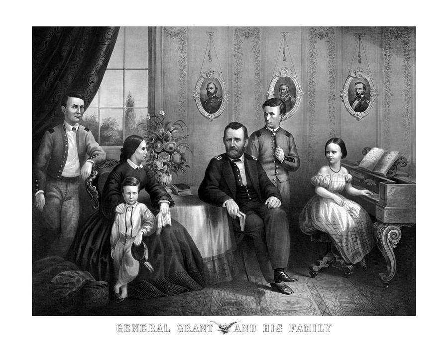 General Grant Mixed Media - General Grant And His Family by War Is Hell Store