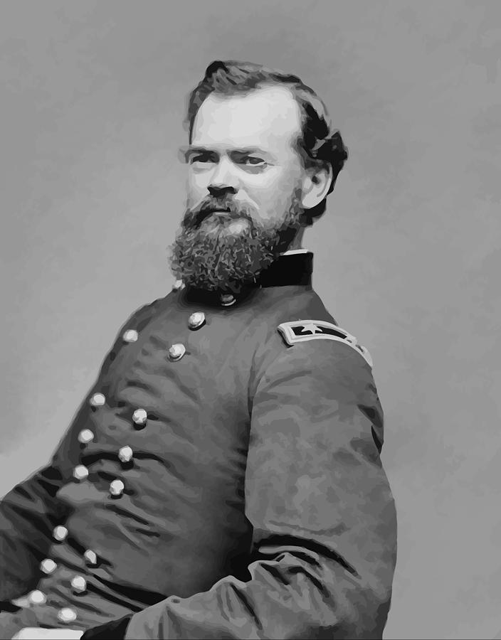 James Mcpherson Painting - General James Mcpherson  by War Is Hell Store