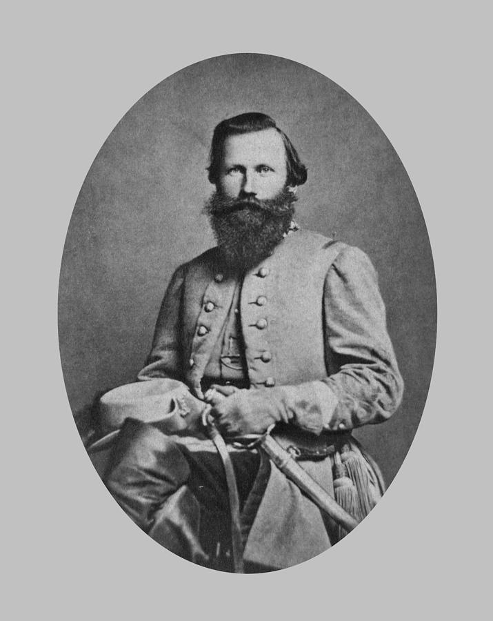 Jeb Stuart Photograph - General J.E.B. Stuart - Confederate Army General by War Is Hell Store