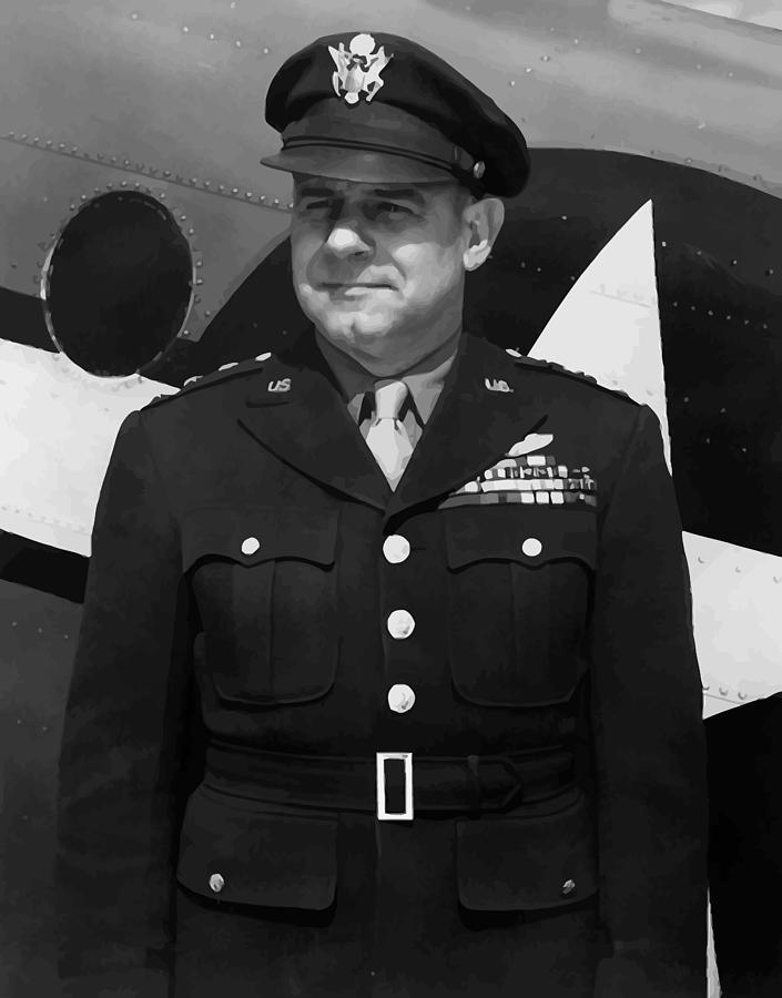 Jimmy Doolittle Painting - General Jimmy Doolittle by War Is Hell Store