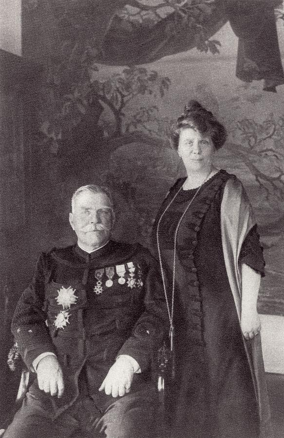 Joffre Drawing - General Joffre And His Wife Madame by Vintage Design Pics