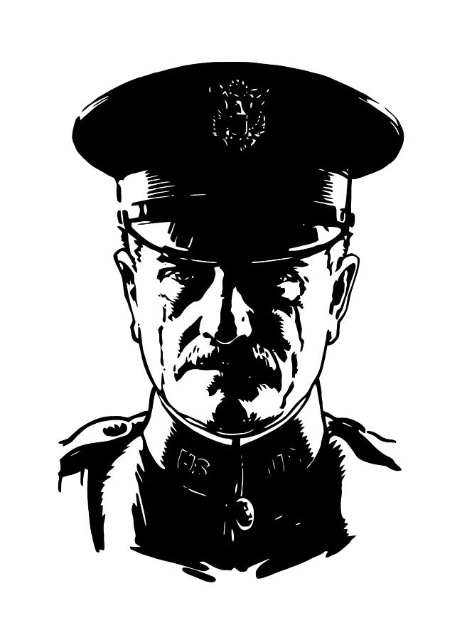 General Pershing Digital Art - General John Pershing by War Is Hell Store