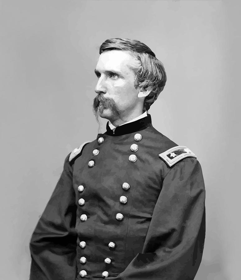 Joshua Lawrence Chamberlain Painting - General Joshua Lawrence Chamberlain by War Is Hell Store